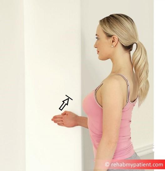 Isometric shoulder external rotation wall